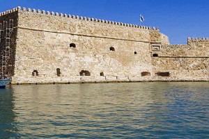 Fortress by the sea in Heraklion, Crete