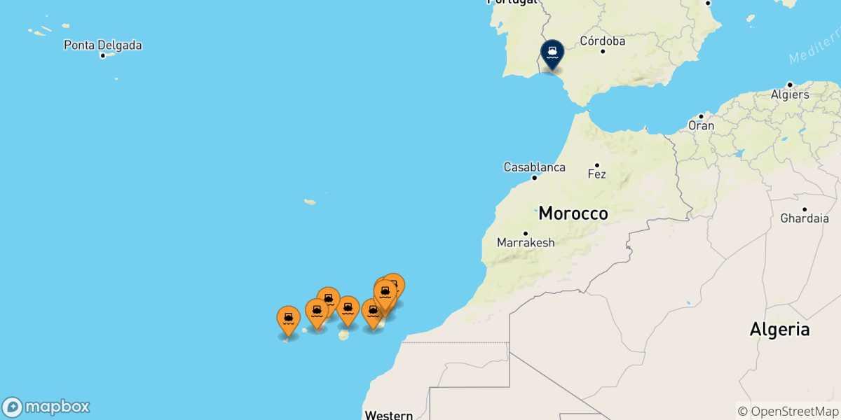 Cartina Spagna E Isole Canarie.Traghetti Dalle Isole Canarie Per La Spagna 2021 Acquista Online Il Tuo Biglietto Con Netferry